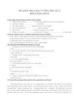 ĐỀ KIÊM TRA 1 TIẾT(4)TIÊNG ANH 8 (HAY)