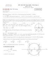 đi thi thử đại học vật lý có lời giải chi tiết đề số 4