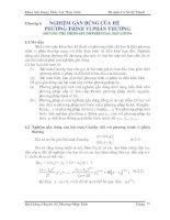 Bài giảng chuyên đề Phương pháp tính Phần 7 doc