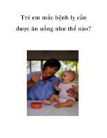 Trẻ em mắc bệnh lỵ cần được ăn uống như thế nào? pot