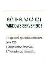 giới thiệu và cách  cài đặt windows server 2003