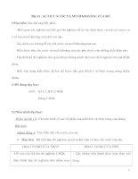 Giáo án Sinh học 6 - SỰ HÚT NƯỚC VÀ MUỐI KHOÁNG CỦA RỄ ppt