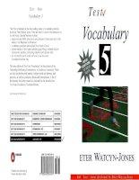 Nâng cao vốn từ vựng Anh văn (Test your vocabulary_5) ppt