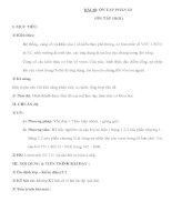 Giáo án Sinh học 10 nâng cao - ÔN TẬP PHẦN III (ÔN TẬP HKII) doc