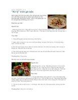 Các món ăn từ thịt Gà.ppt