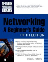 Networking: A Beginner's Guide Fifth Edition- P1 potx