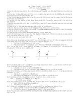 Đề cương ôn tập Vật lý - học kỳ II