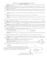 Tuyển các bài tập toán lớp 5