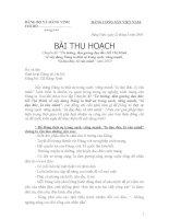 BẢN THU HOẠCH TƯ TƯỞNG HỒ CHÍ MINH