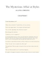 The Mysterious Affair at Styles AGATHA CHRISTIE CHAPTER 5 pdf