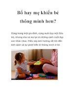 Bố hay mẹ khiến bé thông minh hơn? docx