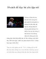 10 cách để dạy bé yêu tập nói pps