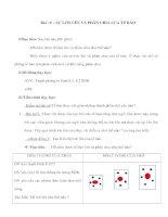 Giáo án Sinh học 6 - SỰ LỚN LÊN VÀ PHÂN CHIA CỦA TẾ BÀO pps