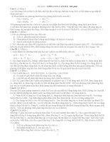 Luyện thi  HÓA HỌC 12 đề số 1( tự luận)