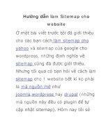 hướng dẫn làm sitemap cho website