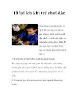 10 lợi ích khi trẻ chơi đàn pdf