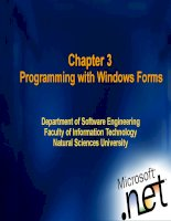 Chapter 3: Programming with Windows Forms pps