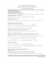 Đề cương ôn tập toán 8 học kì II