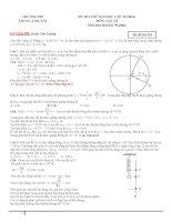 đi thi thử đại học vật lý có lời giải chi tiết đề số 10