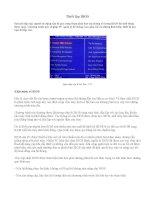 thiết lập phần mềm bios