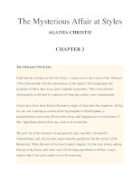 The Mysterious Affair at Styles AGATHA CHRISTIE CHAPTER 2 pptx