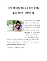 Hội chứng trẻ cô đơn giữa gia đình (phần 4) pdf