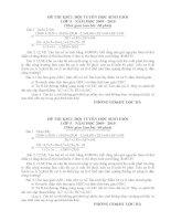 ĐỀ THI KSCL ĐỘI TUYỂN HỌC SINH GIỎI LỚP 5 LẦN 2. MÔN TOÁN