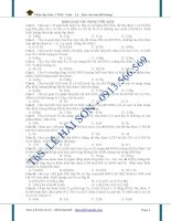 Bài tập Hóa 12 - Kim loại tác dụng với Acid pdf