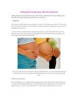 Những biến chứng nguy hiểm khi mang thai pdf