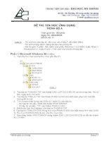 đề thi chứng chỉ tin học quốc gia trình độ a - đề 3