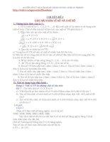 GIÁO ÁN BỒI DƯỠNG HỌC SINH LỚP 5 LÊN 6 VÀO TRƯỜNG CHUYÊN