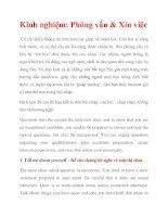Kinh nghiệm: Phỏng vấn & Xin việc pdf