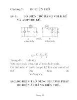 bài giảng kỹ thuật đo điện- điện tử, chương 7 potx