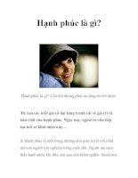 Hạnh phúc là gì? pdf