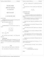 Ôn thi cao học - Toán kinh tế - Phần Xác suất ppt