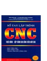 Sổ tay lập trình CNC (P1) docx