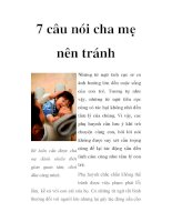 7 câu nói cha mẹ nên tránh ppsx