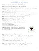 ĐỀ THI GIẢI TOÁN TRÊN MÁY TÍNH CASIO NĂM HỌC 2009 – 2010 - Lớp 12 THPT - Phần 4 pdf