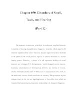 Chapter 030. Disorders of Smell, Taste, and Hearing (Part 12) ppsx