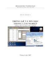 Thống kê và tin học trong lâm nghiệp (Cao học) doc