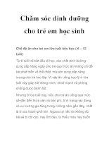 Chǎm sóc dinh dưỡng cho trẻ em học sinh pptx