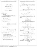 Ôn thi cao học - Toán kinh tế - Phần Thống kê potx