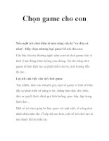 Chọn game cho con ppt