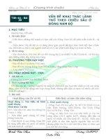 Tiết 44 - Bài 39: vấn đề khai thác lãnh thổ theo chiều sâu ở Đông Nam Bộ