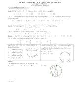 Đề kiểm tra toán 9 học kỳ 2