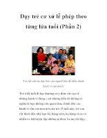 Dạy trẻ cư xử lễ phép theo từng lứa tuổi (Phần 2) pot