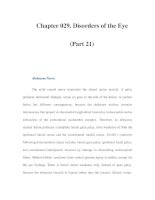 Chapter 029. Disorders of the Eye (Part 21) pps