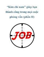 """""""Kim chỉ nam"""" giúp bạn thành công trong mọi cuộc phỏng vấn (phần II) potx"""