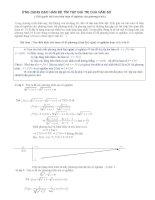 ứng dụng đạo hàm để tìm tập giá trị của hàm số