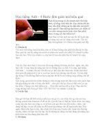 Học tiếng Anh - 4 Bước đơn giản mà hiệu quả pptx